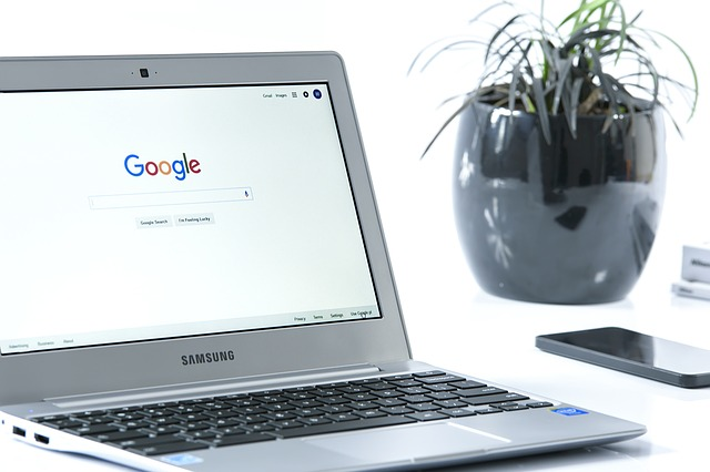 květina, google, notebook